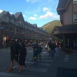"""""""The strip"""" Banff Avenue"""