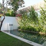 Our private pool in Villa Ambon