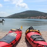 The kayaks with a nice croatian view