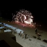 """bbq dinner with fire show @ the wharf..."""