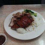 Roast duck and roast pork combination