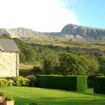 View of Cader Idris from the farmhouse garden.