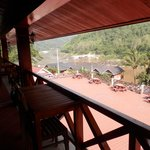 From the balcony overlooking the Mekong