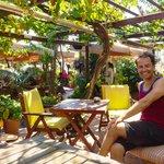 Chillin' in the amazing garden café