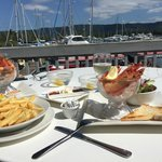 Fresh prawns overlooking the gorgeous Marina