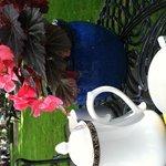 Tea in the courtyard
