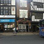 Outside of the Golden Fleece pub