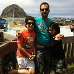 With my kids at Morro Rock