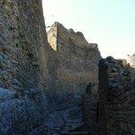 internal walls of Mornas castle