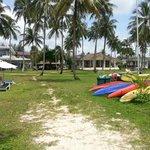 Massagehaus vom Strand aus