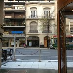 Hall do hotel - vista da rua