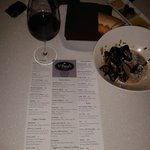 Great Italian menu -- loved the house wine