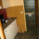 kitchenette leading to bathroom