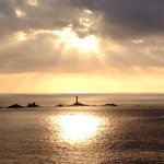 Beautiful sunset at Lands End
