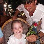 Macey and her favorite waiter Ramzi