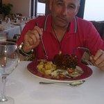 Dinner in restaurant very tasty