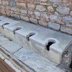 Latrines or Publica Toilets of Ephesus, Turkey