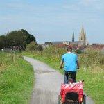Met de fietskar naar Nieuwpoort