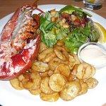 Lobster for dinner in Oban