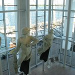 Famous figureheads on display.