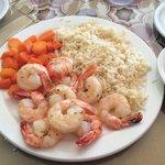Jumbo shrimp in garlic butter!