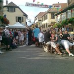 Heiligenstein - the village view and festival in August - live concert