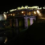 Japanese Covered Bridge by night