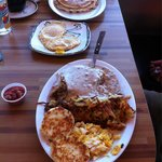 Good food - but we recognize the FSA biscuits and gravy. Cranberry almond pancake was deelish -