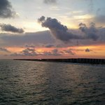 beautiful sunset from the pier