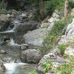 sentiero adiacente al torrente