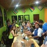 Dinner at El Cafecito in Managua, Nicaragua