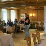 Carolin instructing us in German dining!