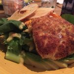 Encrusted Mahi with fresh salad--great value.