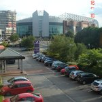 View of Manchester United stadium from the room