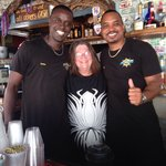 My mom with our wonderful bartenders! They were friendly, funny and made amazing drinks!