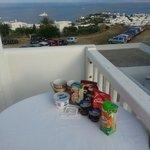 Breakfast with wonderful view