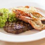 Steak & Prawn