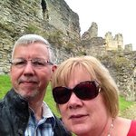 Myself and the present Mrs. Edwards in Richmond Castle.