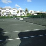 One group of tennis courts - these are clay