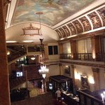 From the mezzanine overlooking the ornate lobby