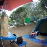 La visuale dalla nostra tenda