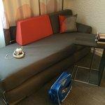 Canapé-lit.
