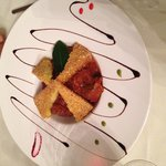 Cinghiale con polenta fritta