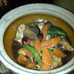 Clay pot chicken - ginger, soy & oyster sauce