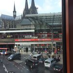 View of Koeln HBF from the hotel breakfast area