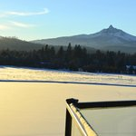 Mount Washington and Cascades viewed across the lake at Black Butte Ranch