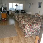 Oceanview room #16 is spacious and updated
