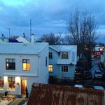 The view from the room - beautiful Reykjavik.