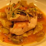 Colorado Striped Bass, Artichokes Barigoule