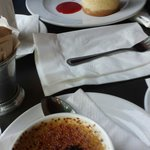 Creme Brulee and Citrus cheese cake
